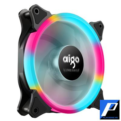 Fan AIGO RING RAINBOW LED