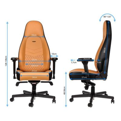 Ghế noblechairs ICON – REAL LEATHER – COGNAC / BLACK